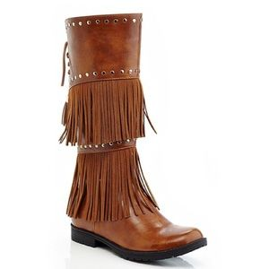 Studded and Fringe Boots
